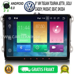 9″ VW Android 8.0 – VW CADDY, GOLF, CADDY, JETTA, PASSAT, SEAT, SKODA BIL MULTIMEDIA SYSTEM