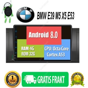 "9"" Android 8.0 – BMW E39 M5 X5 E53"