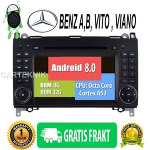 Android 8.0, BENZ A CLASS(W169) B CLASS(W245) Viano Vito