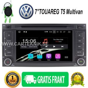 7″ Android 8.0 Bilstereo DVD Player 4G GPS Canbus DAB+ for VW TOUAREG T5 Multivan