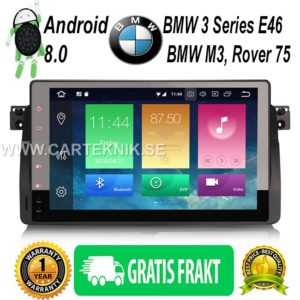 9″ Android 8.0 Bilstereo DAB+ GPS Navi BT OBD 4G TPMS DTV-IN till BMW 3er E46 Rover75 MG ZT
