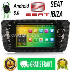 """ Android 8.0 Bilstereo DVD CD Player DAB+ Radio TPMS 4G DVR GPS Sat Till SEAT IBIZA"