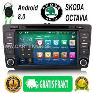 8″ Android 8.0 Bilstereo DVD GPS Player 4G DAB+ DVR TPMS WiFi Till SKODA OCTAVIA