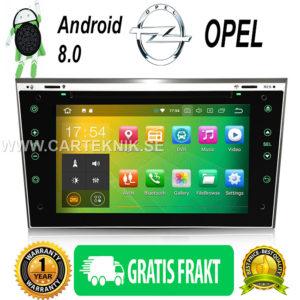 Android 8.0 Bilstereo DVD GPS Sat Navi 4G DAB+ DVR TPMS till Opel