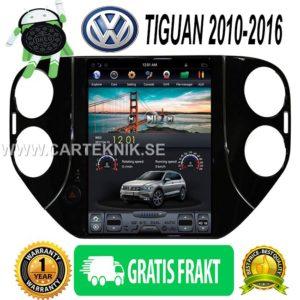 """Android 7.1 10.4 """"Tesla Vertikal Bilsterero gps navigationsspelare för VW Volkswagen Tiguan 2010-2016 multimedia"""