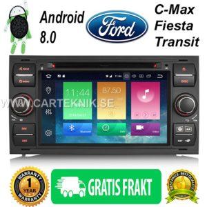 Android 8.0 Bilstereo GPS DVB-T2 DAB+ DVD till Ford Galaxy Kuga Focus Fiesta Transit